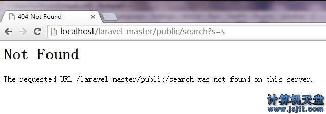 解决 laravel 添加url 出现404错误