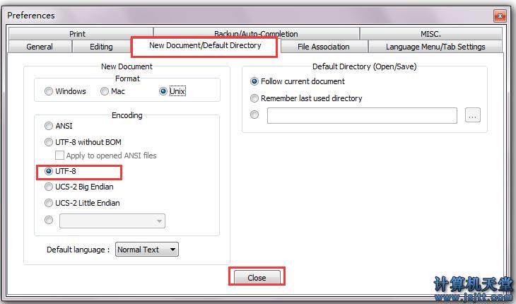 notepad++文本编辑器修改默认编码_改成默认UTF8 2